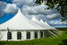 huge white tents